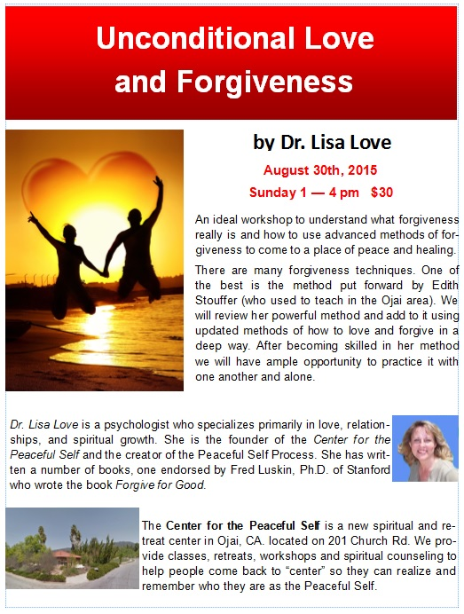 Unconditional Love and Forgiveness